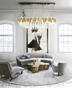 Waterfall Chandelier | Everything sparkles under this elegant chandelier. #modernlamps #modernchandelier #luxurychandelier See more: http://www.luxxu.net/products/waterfall-chandelier.php