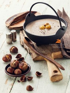 Chestnut soup with roasted chestnuts / Natalia Lisovskaya