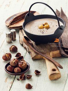 Chestnut soup with roasted chestnuts / Natalia Lisovskaya