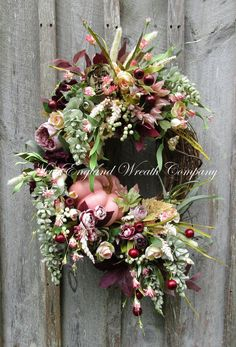 Belmont Victorian Garden Wreath ~A New England Wreath Company Designer Original~