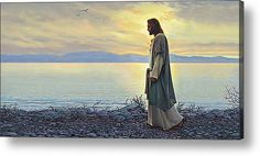 Religious Paintings - Featured Images - Walk With Me by Greg Olsen Religious Paintings, Religious Art, My Canvas, Canvas Prints, Art Prints, Greg Olsen Art, Arte Lds, Fine Art Amerika, Pictures Of Christ
