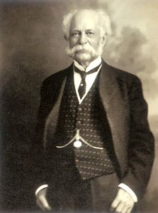 Today in Allegheny County History - On Oct. 11, 1844, Henry John Heinz born in Pgh. As child, sold excess vegetables from mom's garden, and by HS, was buying wholesale vegetables & selling to neighbors at mark-up. In 1869, opened Heinz Noble & Co. with friend in Sharpsburg. Company moved to Pgh in 1872, went bankrupt in 1874. In 1875, partnered w/brother & cousin selling condiments & ketchup. In 1888, bought out partners, renamed business H.J. Heinz Co.