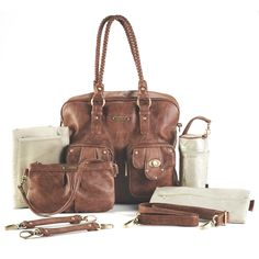 Timi and Leslie Rachel Convertible Diaper Bag - Caramel - Never was it decreed that being a mom equaled being a frump. Skinny jeans and fitted moto jackets are still allowed and you can still tote a status-wo...