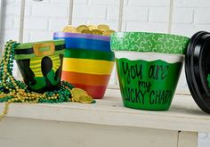 Plaid® St. Patty's Day Pots by Dondi Richardson