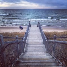 Rosy Mound in Grand Haven, Michigan.  I love this trail!  Its so beautiful here any time of year.  Being a Vermonter for 8 years convinced me that I would always want to be a small town girl.  I can't stand the city except for a day or two visit.
