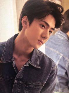 Sehun - 190910 Fourth official photobook 'PRESENT ; the moment' Baekhyun Chanyeol, Exo K, Exo Album, Kim Minseok, Xiu Min, Exo Members, Korean Beauty, K Idols, Photo Book
