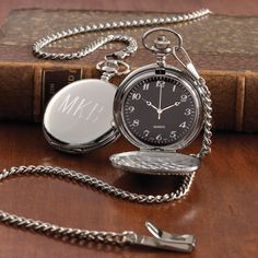 For sophistication a wristwatch just can't match, give a classic silver-plated pocket watch, which you can personalize with initials and a heartfelt message.
