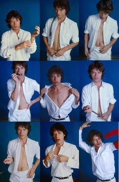 """Mick Jagger 3 X 3. Mick, uh what was that line you said in your cult film """"Performance""""---""""Take em off...TAKE 'em OFF!."""""""