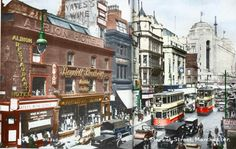 Resultado de imagen para people in the streets of manchester in Manchester City Centre, History Manchester, Manchester Uk, Old Pictures, Old Photos, Albion Hotel, Salford, Cheap Hotels