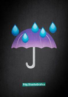 lluvia emoji Pdg Diseño Grafico