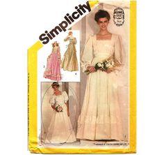1980s Gunne Sax Wedding Dress Pattern  Vintage by ErikawithaK