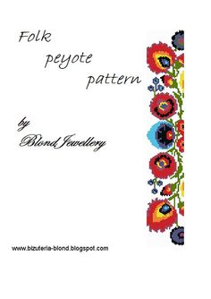 Folk Peyote Pattern by BlondJewellery on Etsy, $5.00