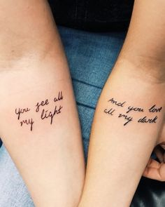 72 Inspiring Quote Tattoos To Motivate You Every Time Tattoo Frases; 72 Inspiring Quote Tattoos To Motivate You Every Time; Quote tattoos at the hands of women ., # timesBest Picture For tattoos hand Unique Sister Tattoos, Matching Sister Tattoos, Tattoos For Daughters, Soul Sister Tattoos, Brother Sister Tattoos, Couples Matching Tattoos, Sibling Tattoos, Mother Daughter Tattoos, Cute Matching Tattoos For Bestfriends