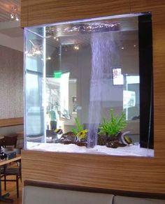 55 Wondrous Aquarium Design Ideas for Your Extraordinary Home Decoration - Talkdecor Aquarium Design, Wall Aquarium, Acrylic Aquarium, Aquarium Fish Tank, Fish Tanks, Aquarium Setup, Aquarium Architecture, Architecture Design, Fish Tank Design