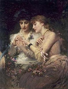 'A Thorn Amidst the Roses' (1887) by James Sant. Oil on canvas. Location: The Manchester Art Gallery, Manchester, England.
