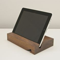 Solid iPad Stand Walnut #BiesseWoodworkingMachinery