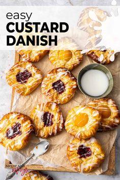 Breakfast Pastries, Sweet Pastries, Sweet Breakfast, Pastry Recipes, Baking Recipes, Quick Recipes, Dessert Recipes, Danish Food, Flaky Pastry