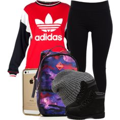 A fashion look from November 2014 featuring sweatshirts hoodies, black elastic waist pants and black boots. Browse and shop related looks.