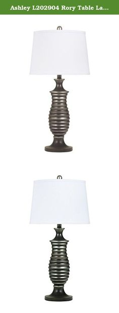 """Ashley L202904 Rory Table Lamp in Antique Silver Metal Finish, Silver, 2-Pack. Set of 2 Antique silver finished metal table lamp table lamps. Dimensions: 14"""" W x 14"""" D x 28.75"""" H, Shade: 12.13"""" x 14"""" x 10.25""""H."""