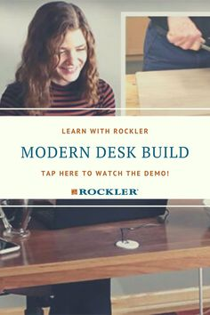Many people are working from home right now. And some of them are getting fed up with using the dining room table as a workstation. This compact desk or some variation of it might just be the answer to that problem. Tap here to watch our demo and find a simple solution! #createwithconfidence #peelandstick #veneer #tips #rocklerdemo