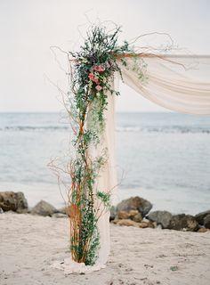 A Dream Ballgown For a Beach Ceremony