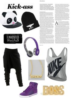 """dance outfit to kick ass"" by alyshia-ebbrell ❤ liked on Polyvore"