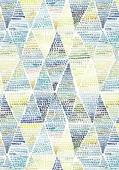 Fabric Patterns Triangle Dot pattern design // Yao Cheng Design - Dress up your cell for spring. Motifs Textiles, Textile Patterns, Surface Pattern Design, Pattern Art, Zentangle, Pattern Wallpaper, Wallpaper Ideas, Best Iphone Wallpapers, Pretty Patterns