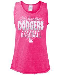 b3a0bc88e24 5th  amp  Ocean Girls  Los Angeles Dodgers Clear Glitter Tank Dodgers  Shirts