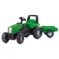 Sturdy pedal ride on tractor suitable for young gardeners ages