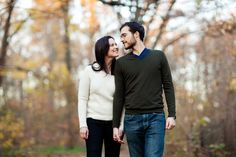 A woodsy Prospect Park engagement shoot | New York | Rima Campbell Photography @Rima Campbell