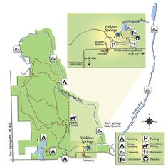 Map of Wekiwa Springs State Park. Would be a fun addition to a Florida trip: 72 degree spring to swim/snorkel in