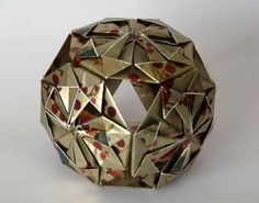 Learn how to make this cool origami Christmas ornament!