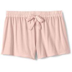 Lands' End Women's Petite Sleep Shorts ($25) ❤ liked on Polyvore featuring intimates, sleepwear, pajamas, shorts, pijama, red, petite pajamas, lands end pajamas, petite pyjamas and lands end pjs