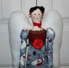 "A little closer look at my Winter Angel from Tilda book ""Sew Pretty Christmas Homestyle"""