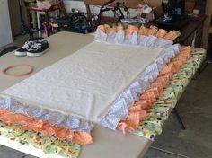 DIY ruffled crib skirt!