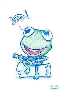 Blue Doodle #38: Kermit's little rainbow | Flickr: Intercambio de fotos