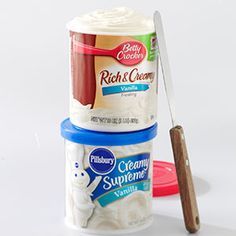 Tip: Semi-Homemade Frosting. Don't have the time to make homemade frosting? Mix a can of store-bought frosting (any flavor) with an 8-ounce container of whipped topping. The result is so soft, creamy and easy to spread that everyone will think you made traditional cooked 7-minute frosting. —Sheila S., Eleanor, West Virginia