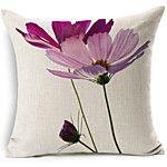 conjunto de 3 luz elegante padrão floral roxo algodão / linho cobertura decorativa travesseiro de 2017 por $35.99
