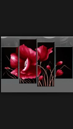 I love this flower wall decor