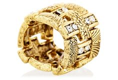 Gold Ox Cage Ring from Karine Sultan