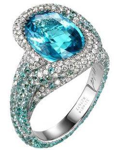 Chopard Paraiba tourmaline, tourmaline and diamond ring by Eva