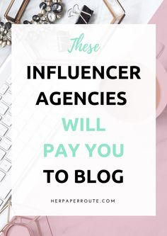 Infuencer agencies are companies that connect brands with bloggers. You can apply to these types of agencies once you have high page views and a healthy number of followers on social media.  There are plenty of influencer agencies that you can apply to, some that I like are .... Clique aqui http://www.estrategiadigital.pt/ferramentas-de-marketing-digital/ e confira agora mesmo as nossas recomendações de Ferramentas de Marketing Digital