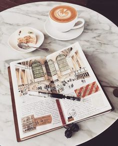 A good latte & a pen