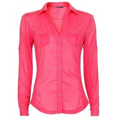 MANGO Ribbed panels shirt ($26) ❤ liked on Polyvore featuring tops, shirts, blouses, blusas, long sleeves, fuschia, v neck long sleeve shirt, long sleeve tops, pink shirts and pink long sleeve shirt