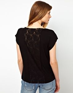 Ganni Lana T-Shirt with Lace Back