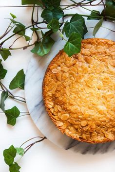 Almond Lingonberry Cake