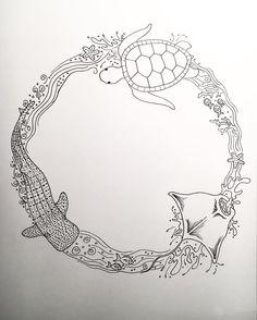under sea wreath
