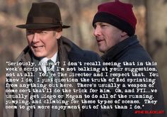Because, if I were #Spader, I'd be yakking it up with an old friend - and making suggestions.... #JamesSpader #AndrewTMcCarthy #TheBlacklist