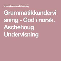 Grammatikkundervisning - God i norsk. Aschehoug Undervisning