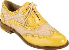 Yellow and tan oxfords